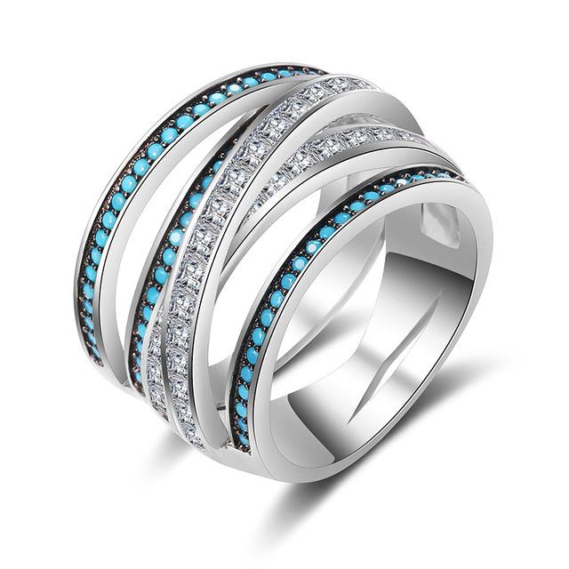 Shineland Luxury Women Wedding Rings 100 925 Sterling Silver